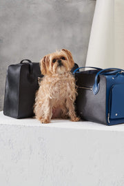 Black dog bag. Made in Italy by Shaya Pets.
