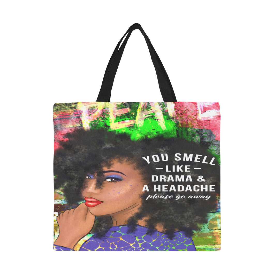 All Over Print Canvas Tote Bag/Large