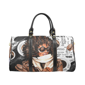 Coffee Inspired Waterproof Travel Bag/Small (Model 1639)