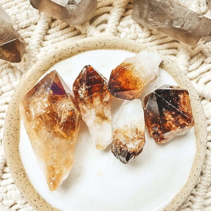 Honey Citrine Point Pack