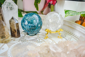 Crystal Egg & Sphere Stand