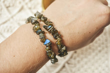 Load image into Gallery viewer, Labradorite Crystal Chip Bracelet