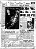 Image of 1962 Stanley Cup page reprint