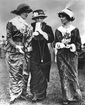 Ladies at the track in 1913