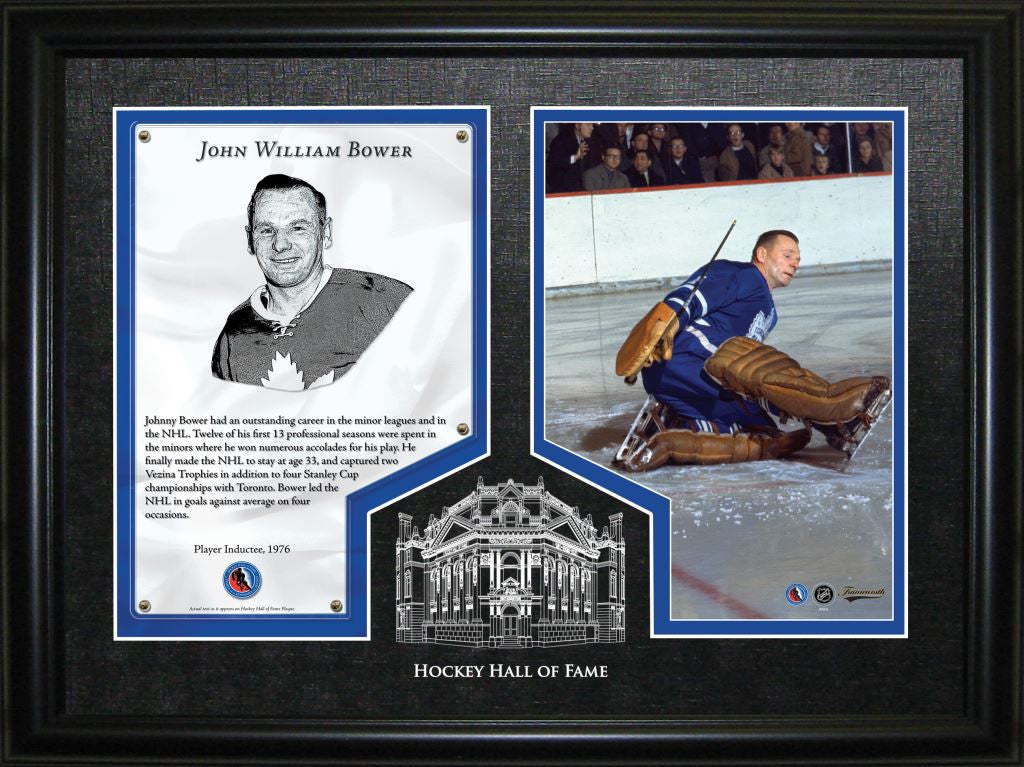Johnny Bower Hockey Hall Of Fame Induction Frame