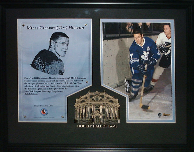 Tim Horton Hockey Hall Of Fame Induction Frame