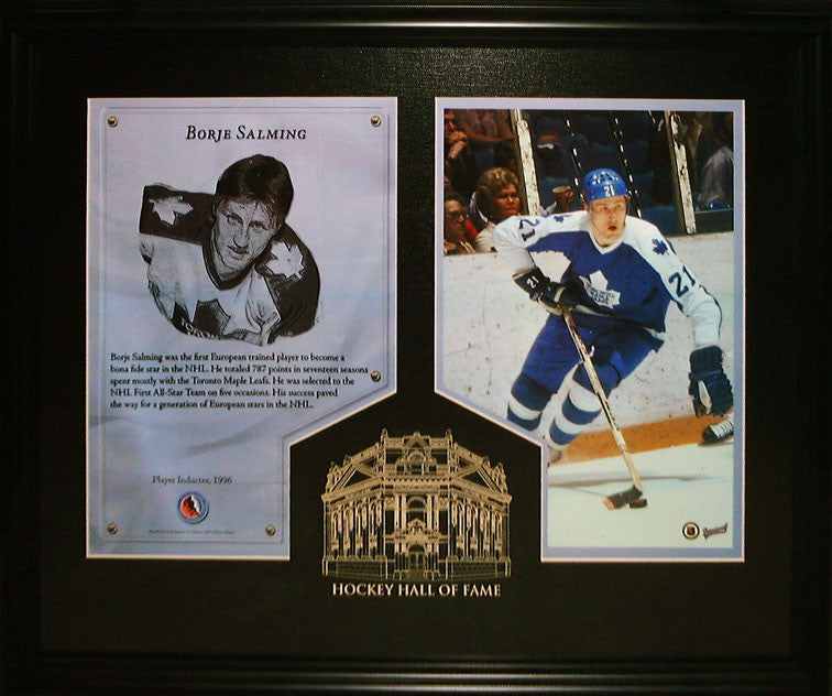 Borje Salming Hockey Hall Of Fame Induction Frame
