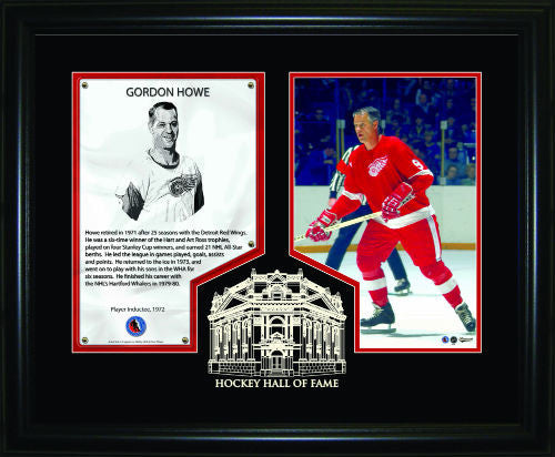 Gordie Howe Hockey Hall of Fame Induction Frame