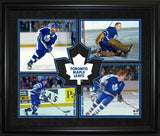 Toronto Maple Leafs 4-Player HHOF Frame with Logo