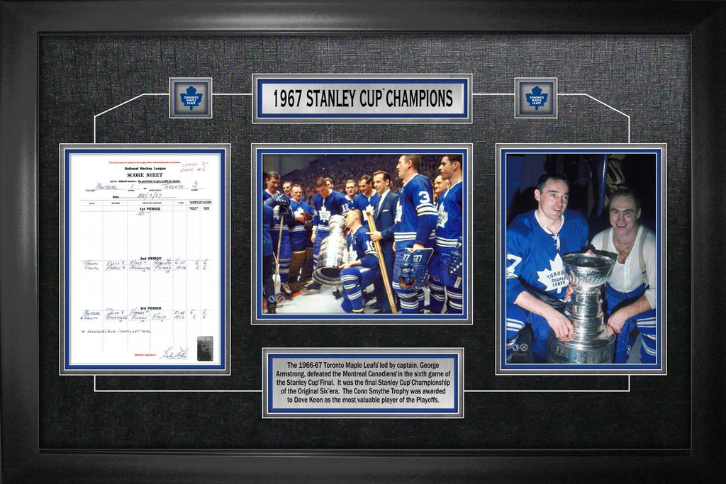 Toronto Maple Leafs Framed Scoresheet Collage 1967 Stanley Cup Champions