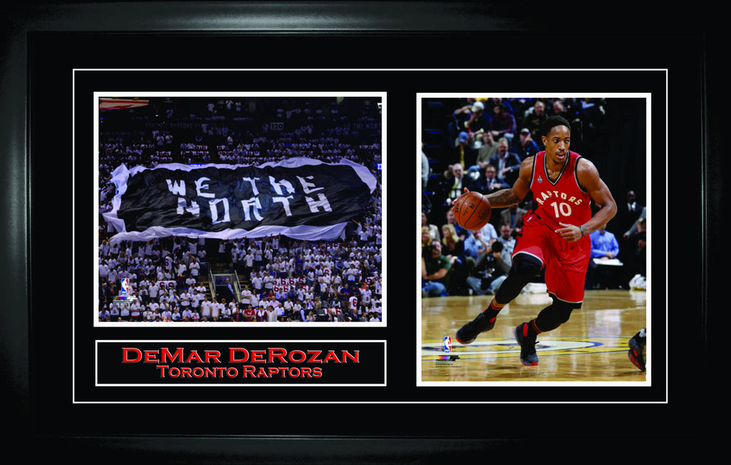 DeMar DeRozan - Framed Double 8x10 Etched Mat