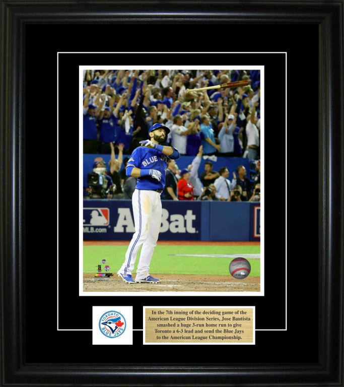 "Jose Bautista 8""x10"" Photo Frame - Home Run Bat Flip"