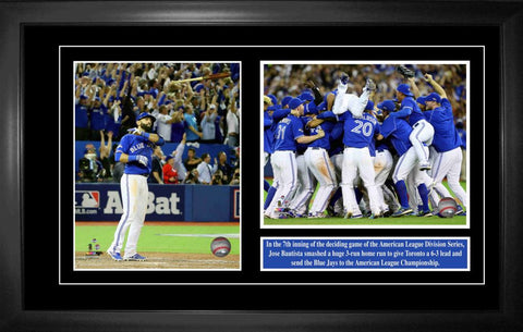 "Roberto Alomar Double 8""x10"" Photo Frame with Blue Jays Logo"