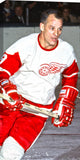 Gordie Howe  14x28 HHOF Art Canvas - Detroit Red Wings NHL Legend