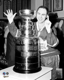 Red Kelly 8x10 Photo - Stanley Cup Celebration Black & White