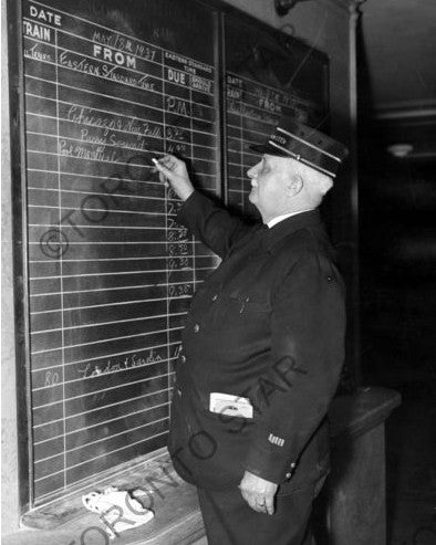 Assistant Station Master at Union Station photograph