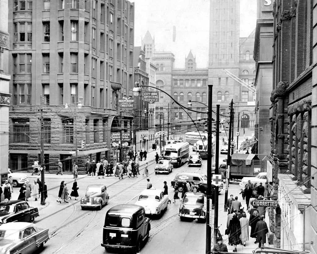 Bay and Richmond, 1954 photograph