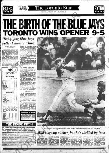 Birth of Blue Jays page reprint