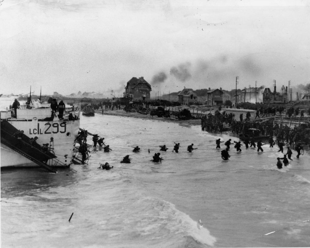 D-Day, June 6, 1944 Normandy Beach photograph
