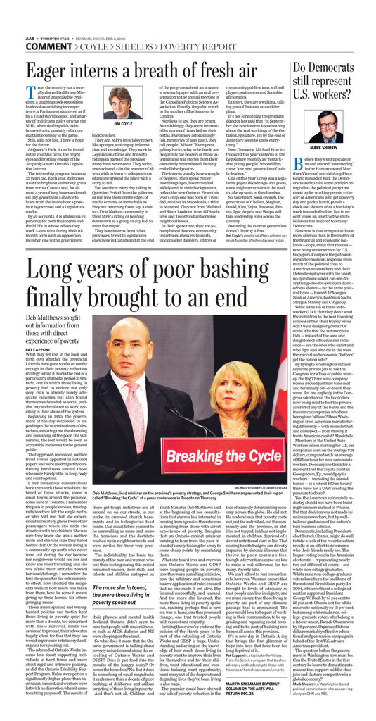 December 8, 2008 A8 page reprint