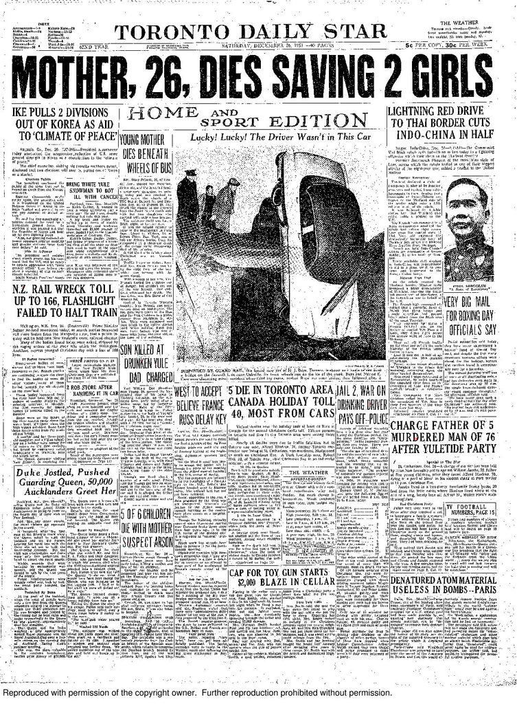 Front Page December 26 1953