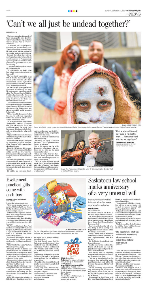 SUNDAY, OCTOBER 27, 2013 TORONTO STAR A13