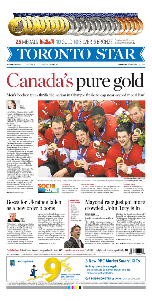 Team Canada - Men's Hockey Wins Gold 2014