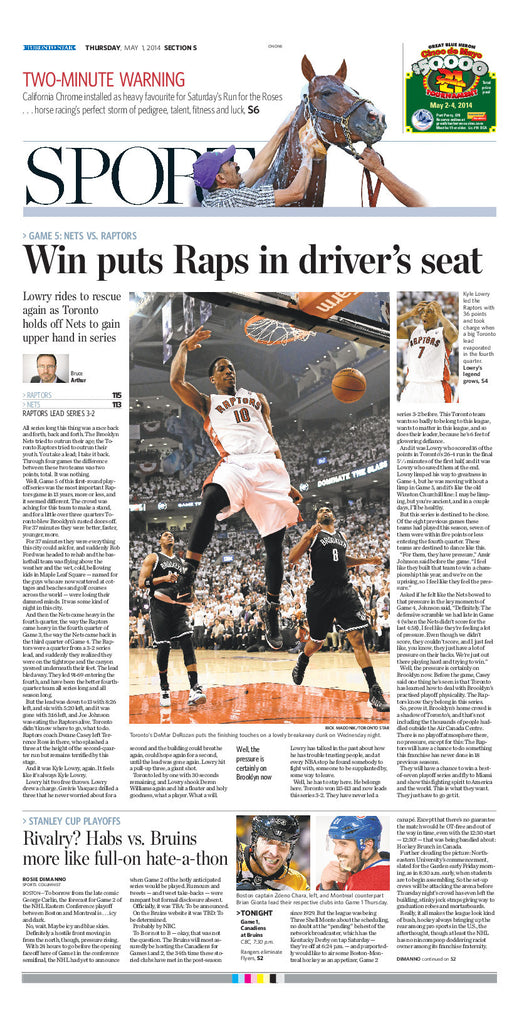 Win puts Raps in driver's seat