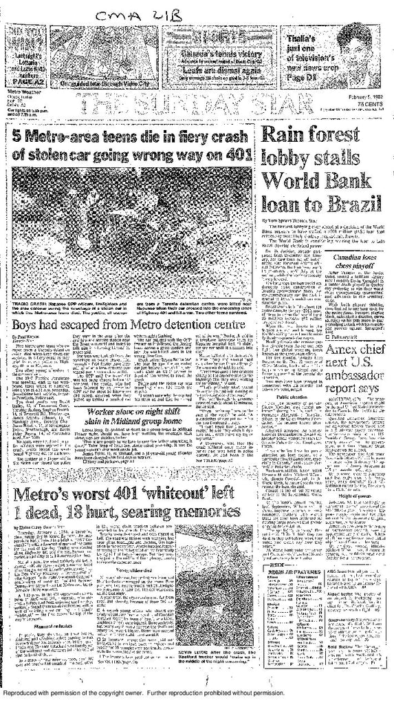 FRONT Page Feb 5, 1989