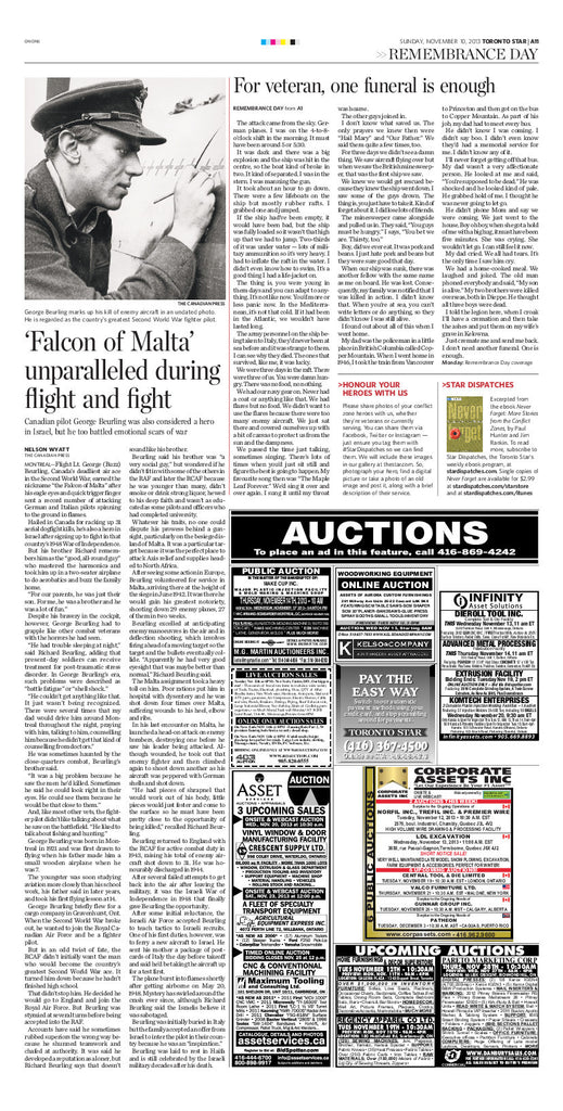 Falcon of Malta, November 10, 2013 page reprint
