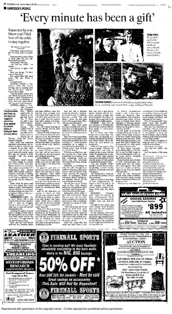 February 25 2001 A8 page reprint