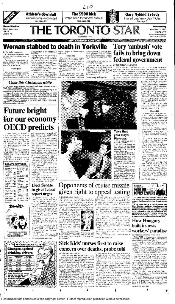 Front Page, December 21, 1983