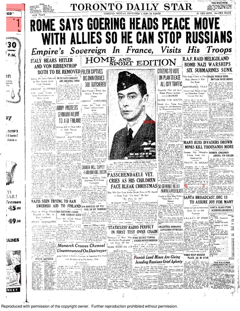 Front Page December 4, 1939