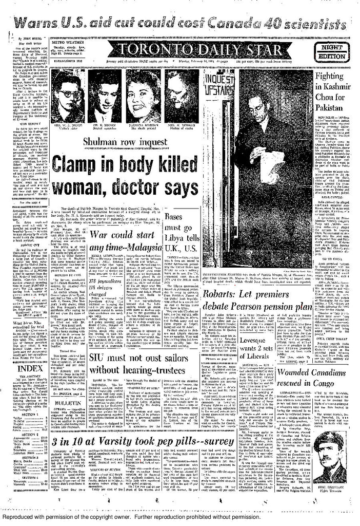 Front Page, February 24, 1964