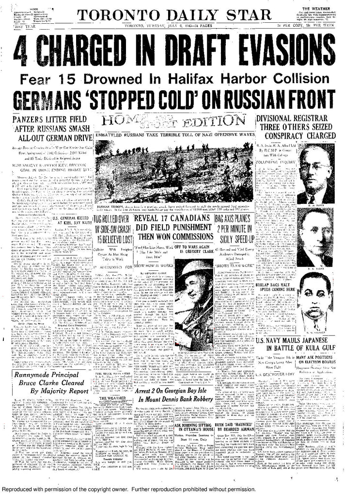 Front Page, July 6, 1943