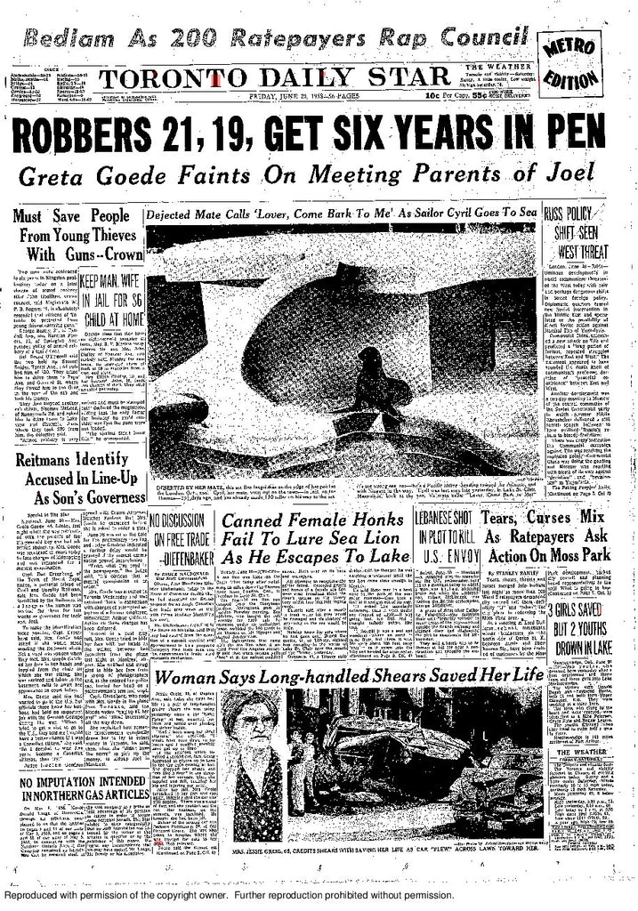 Front Page June 20 1958