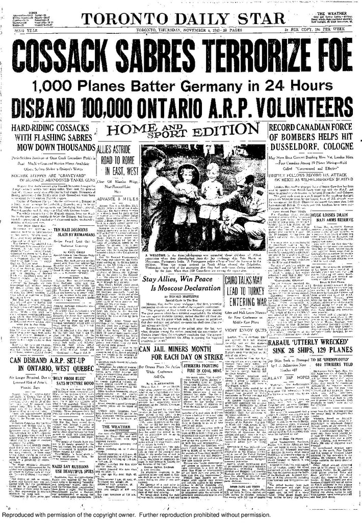 Front Page, November 4, 1943