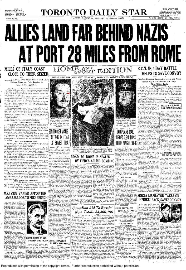 Front Page January 22, 1944
