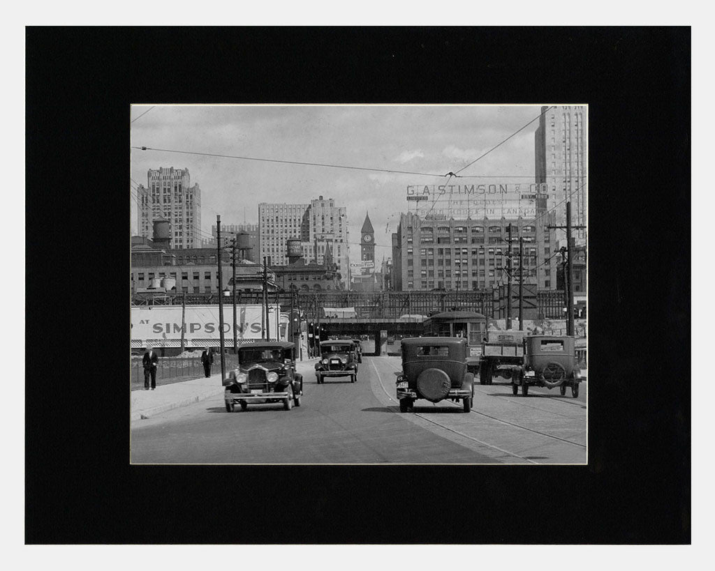 Matted: Looking Up Bay Street, 1931