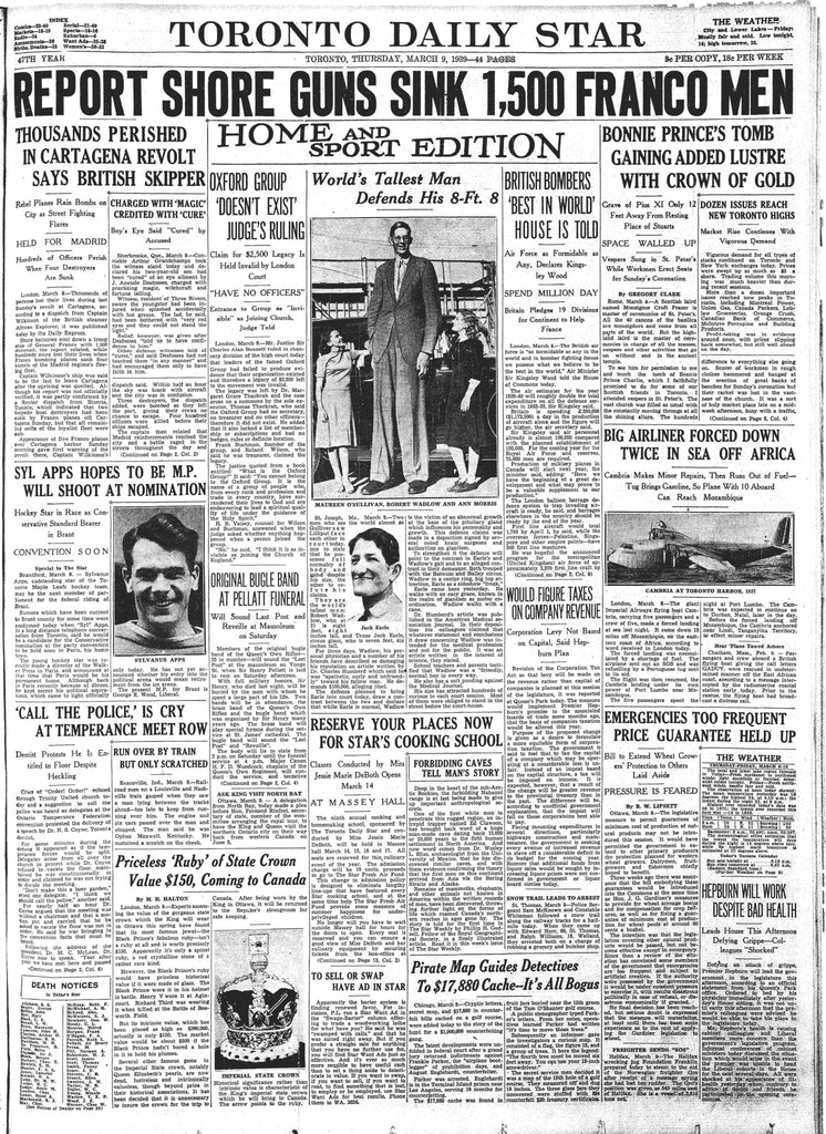 Front Page, March 9, 1939