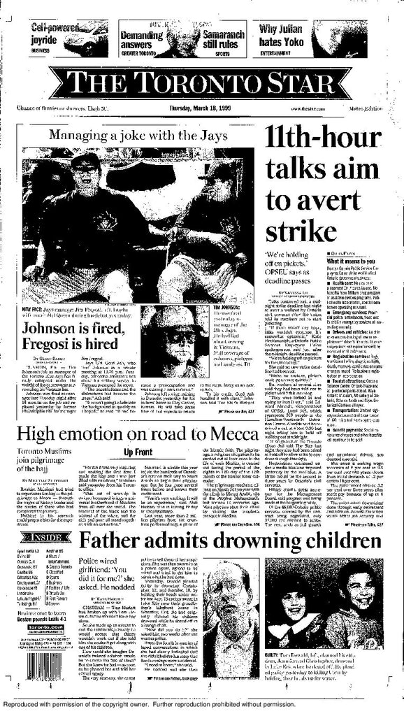 Front Page March 18 1999