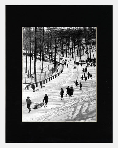 Matted: High Park Toboggan Runs, 1910