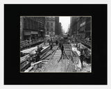 Matted: Yonge Street Subway Construction, 1950