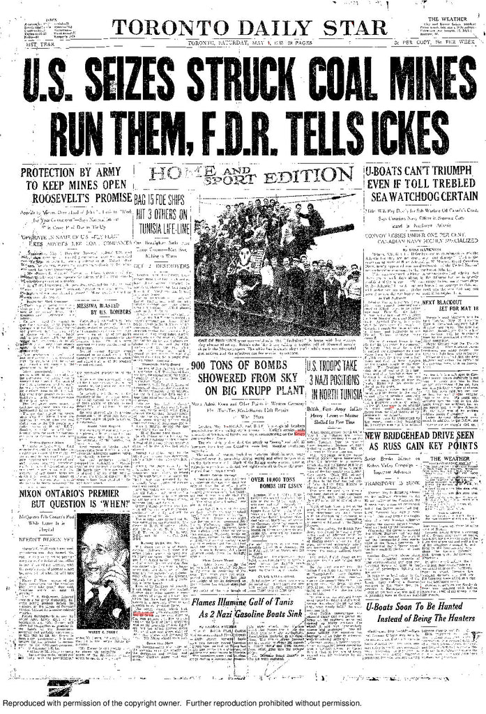 Front Page May 1, 1943
