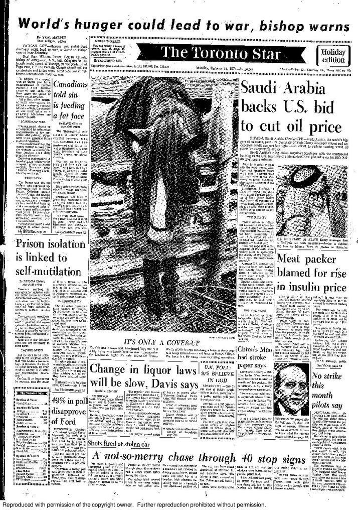 Front Page October 14, 1974