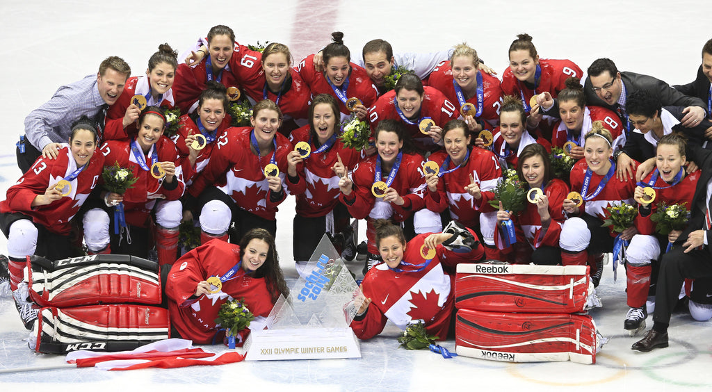 Image of The Canadian Women's Hockey Team Wins Gold 2014 photograph
