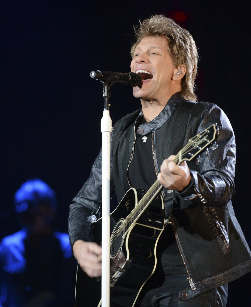 Bon Jovi singing photograph