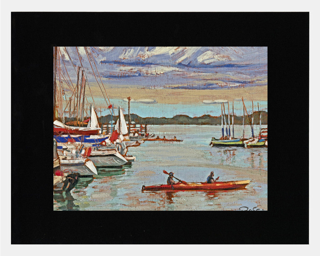 Matted: Raffi's Harbourfront Canoe