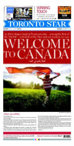 Welcome To Canada 2015