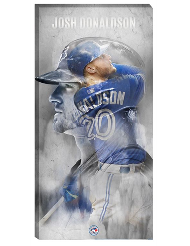 "Josh Donaldson 14""x28"" Blue Jays Art Canvas"